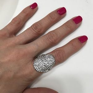 Express sparkly cocktail ring